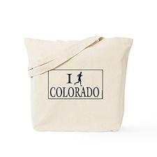 Men's I Run Colorado Tote Bag