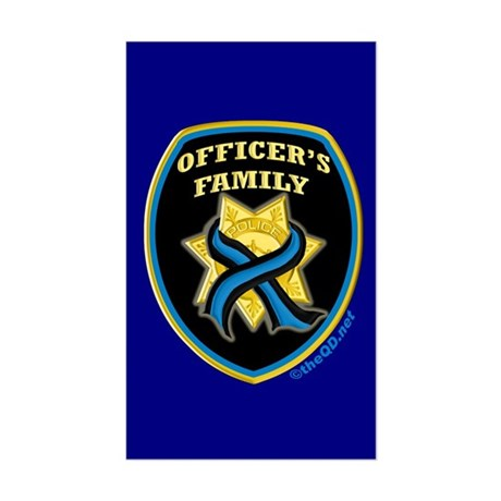 ThinBlueLine Officer's Family Rectangle Sticker