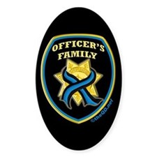 ThinBlueLine Officer's Family Oval Stickers