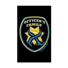 ThinBlueLine Officer's Family Rectangle Decal