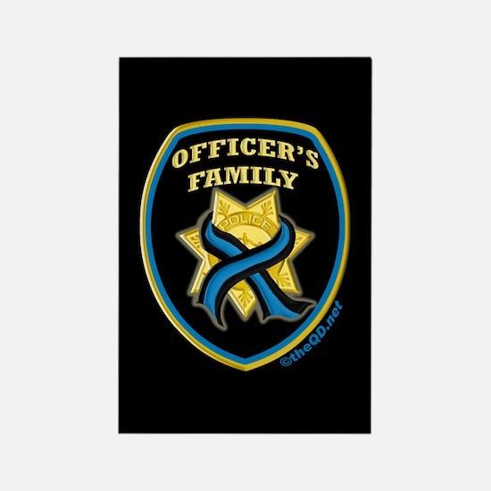 ThinBlueLine Officer's Family Rectangle Magnet