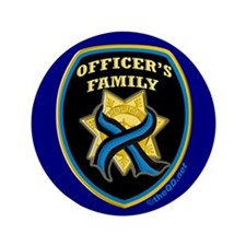 "ThinBlueLine Officer's Family 3.5"" Button"