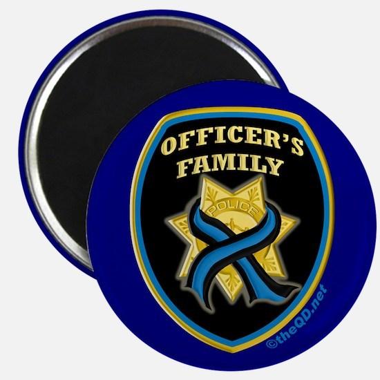 ThinBlueLine Officer's Family Magnet