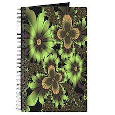 """""""Green Flowers"""" Fractal Art Journal"""