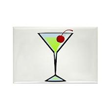 Green Apple Martini Rectangle Magnet