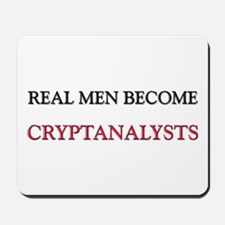 Real Men Become Cryptanalysts Mousepad