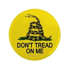 """Don't Tread on Me 3.5"""" Button"""