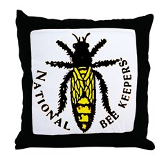 National Bee Keepers Throw Pillow