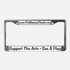 Pink Banana Theatre License Plate Frame