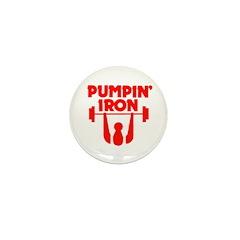Pumpin' Iron Mini Button (10 pack)