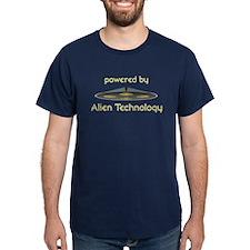 Powered By Alien Technology Black T-Shirt