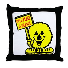 Give Peace a Chance Throw Pillow