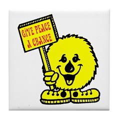 Give Peace a Chance Tile Coaster