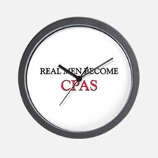 Real Men Become Cpas Wall Clock