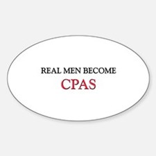 Real Men Become Cpas Oval Decal