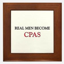 Real Men Become Cpas Framed Tile