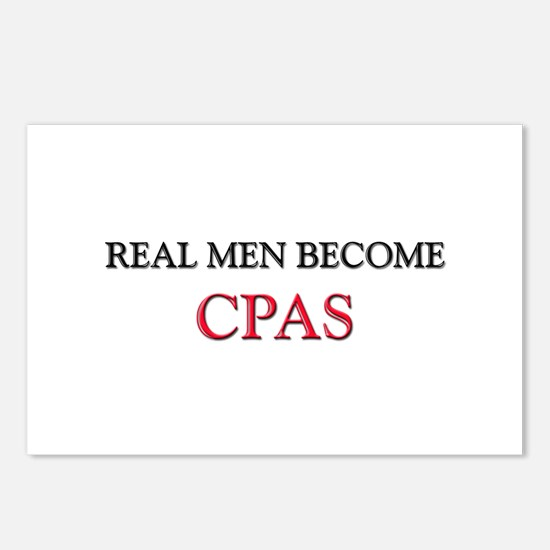 Real Men Become Cpas Postcards (Package of 8)