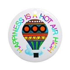 Hot Air High Ornament (Round)