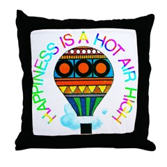 Hot Air High Throw Pillow
