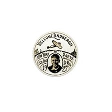 Welcome Lindbergh Mini Button