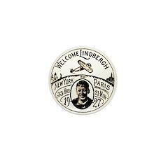 Welcome Lindbergh Mini Button