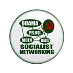 """Socialist Networking 3.5"""" Button (100 pack)"""