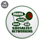 """Socialist Networking 3.5"""" Button (10 pack)"""