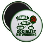 """Socialist Networking 2.25"""" Magnet (10 pack)"""