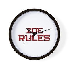 zoe rules Wall Clock
