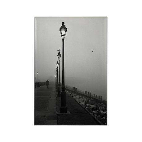 Fog over the Moonwalk Rectangle Magnet