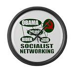Socialist Networking Large Wall Clock