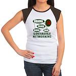 Socialist Networking Women's Cap Sleeve T-Shirt