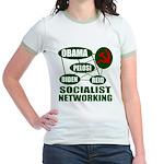 Socialist Networking Jr. Ringer T-Shirt