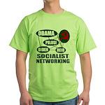 Socialist Networking Green T-Shirt