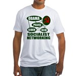 Socialist Networking Fitted T-Shirt