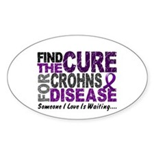 Find The Cure 1 CROHNS Oval Decal