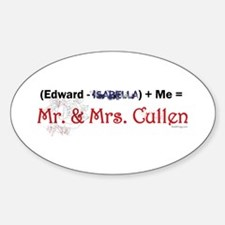Edward Minus Isabella Bumper Oval Decal