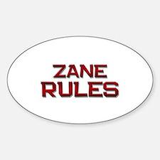 zane rules Oval Decal