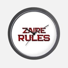 zaire rules Wall Clock