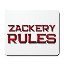 zackery rules Mousepad