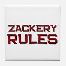 zackery rules Tile Coaster
