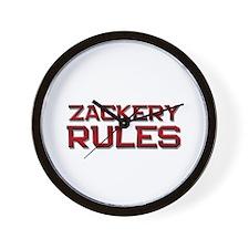 zackery rules Wall Clock
