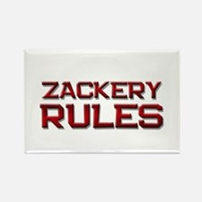 zackery rules Rectangle Magnet