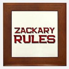 zackary rules Framed Tile