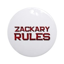 zackary rules Ornament (Round)