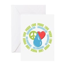 Peace Love Conservation Greeting Card