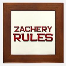 zachery rules Framed Tile