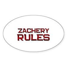 zachery rules Oval Decal