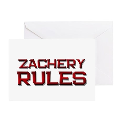 zachery rules Greeting Cards (Pk of 10)