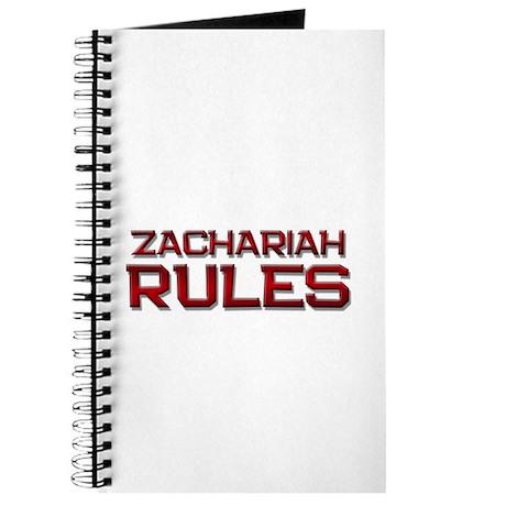 zachariah rules Journal